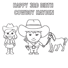 The-Male-And-Female-With-Cowboy-Hats-16 coloring pages