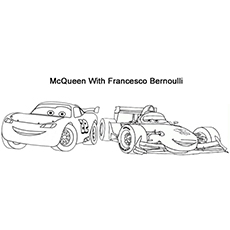 The Lightning McQueen With Doc Hudson Coloring Pages Of Francesco Bernoulli Printable Sheet