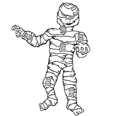 Mummy Coloring Sheet