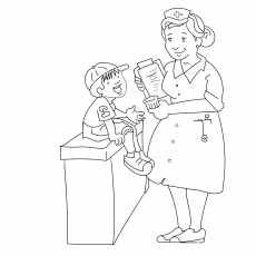 The Nurse With Kid