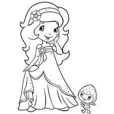 princess orange blossom princess and castle of strawberry shortcake cartoon coloring page - Strawberry Shortcake Coloring Pages