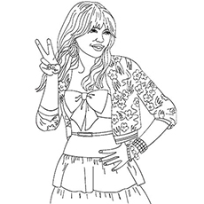 Image Gallery Hannah Montana Coloring Pages