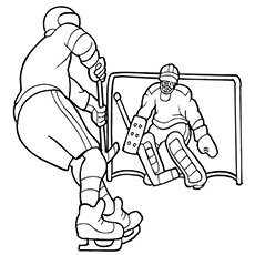 Professional Hockey Game Coloring Pages