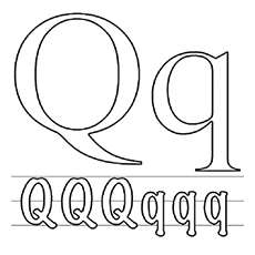 Letter Q And q to Color