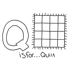 Q For Quilt Coloring Sheet