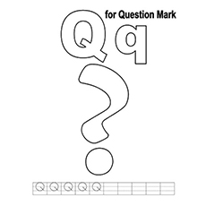 Q Is For Question Mark Coloring Page to Print