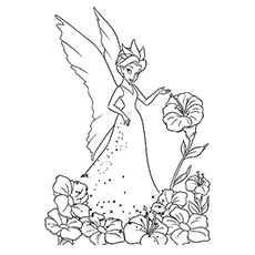 tinkerbell head coloring pages - photo#23
