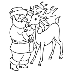 Reindeer Pic to Color free