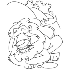 The Resting Mountain Lions Coloring Pages