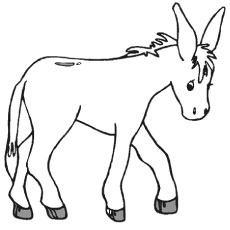 Top 10 Free Printable Donkey Coloring Pages Online