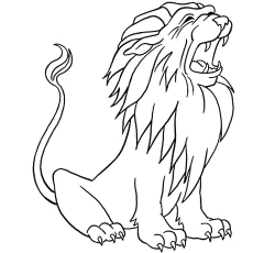 The Roaring Lion Coloring Pages