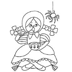 Girl is Showing Emotion Scared Coloring Pages