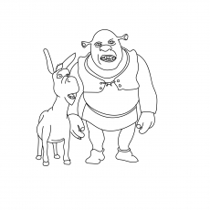 The Shrek With Donkey