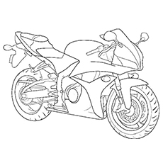 Printable Coloring Pages Of Stylish Motorcycle