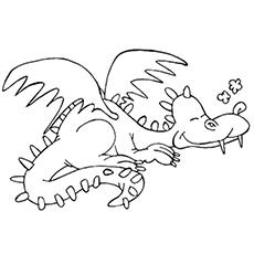 Sleeping Dragon Coloring Sheet