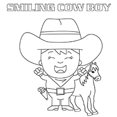 coloring pages for The-Smiling-Cowboy-16