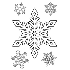 Snowflake Sheet to Color