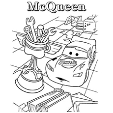 Surprised Lightning McQueen Coloring Pages