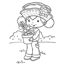 Free Printable Teenage Orange Blossom Coloring Page