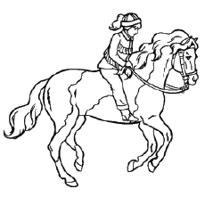 thoroughbred horse beautiful trotting horse coloring sheet