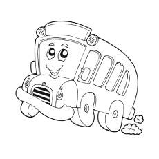 The-Tiny-smiling-School-Bus
