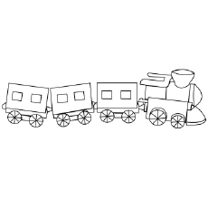 Small Play Toy Train Coloring Sheet To Print