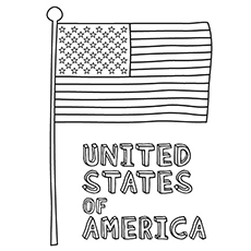 United States Of America ready to Celebrate 4th July Coloring Page