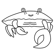 Coloring Pages of Walking Crab