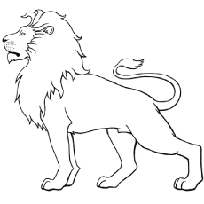 The White Lion Coloring Pages