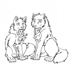 Printable Gray Wolf Coloring Pages The Wolves And Puppies01