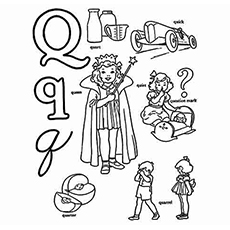 Q Word Coloring Pages Letter Q Coloring Pages Twisty Noodle Q Letter Q Coloring Page