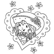 Young Strawberry Shortcake Printable to Color