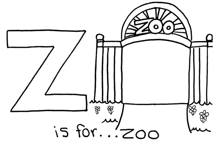 trip to zoo colouring pages  page 3 Zoo Entrance Coloring Page
