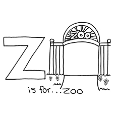 Z for Zoo Coloring Pages