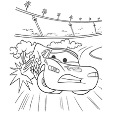 Coloring Pages Of Drifting Off The Track McQueen