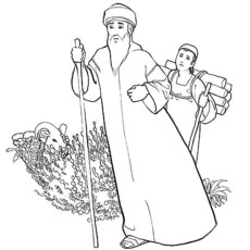 the abraham and isaac - Abraham And Isaac Coloring Page