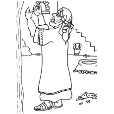 the abraham praying to god - Abraham And Isaac Coloring Page