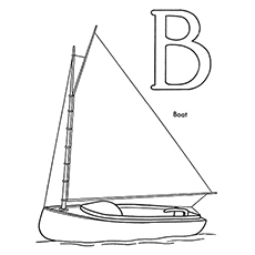Printable Coloring Sheet of B For Boat