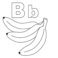 Free Printable Coloring Pages of b Stands for Banana