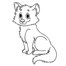 baby wolf coloring pages - Wolf Coloring Pages