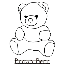 B stands for Bear Coloring Sheet for Kids