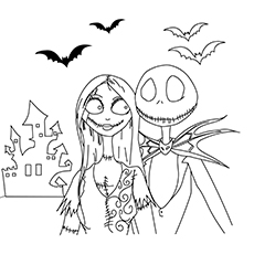 The Disney Coloring Pages Nightmare Before Christmas