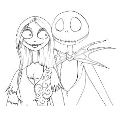 Top 25 Nightmare Before Christmas Coloring Pages For Disney Nightmare Before Coloring Pages