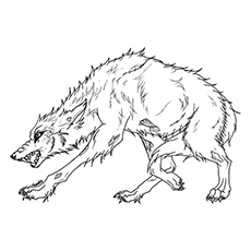 angry wolf coloring pages - Wolf Coloring Pages