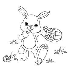 Top 15 Free Printable Easter Bunny Coloring Pages Online Easter Bunny Coloring Pages