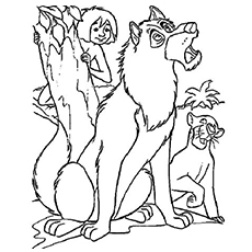 jungle book wolf coloring pages - Wolf Coloring Pages