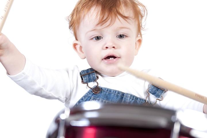 The junior drummer