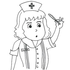 Nurse Checking Temperature Coloring Pages