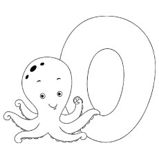 O For Octopus Printable Coloring Pages
