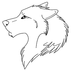 Wolf Icon Coloring Pages